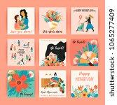 happy mothers day. vector... | Shutterstock .eps vector #1065277409