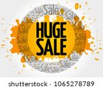 huge sale words cloud  business ... | Shutterstock . vector #1065278789
