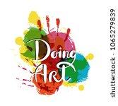 doing art. hand drawn... | Shutterstock .eps vector #1065279839