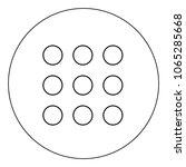 dial button icon black color in ... | Shutterstock .eps vector #1065285668