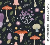 seamless pattern with whimsical ... | Shutterstock .eps vector #1065287240