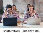 portrait of happy smiling...   Shutterstock . vector #1065294188