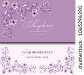 wedding card or invitation with ...   Shutterstock .eps vector #1065296390