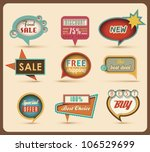 Stock vector the new retro speech bubbles signs collection vector illustration 106529699