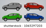 set of realistic suv car 4x4... | Shutterstock .eps vector #1065297203
