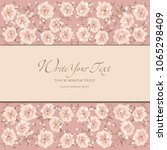 wedding card or invitation with ...   Shutterstock .eps vector #1065298409