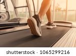 exercise treadmill cardio... | Shutterstock . vector #1065299216