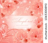 wedding card or invitation with ...   Shutterstock .eps vector #1065300893
