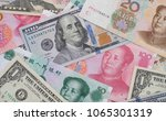 close up yuan banknotes and... | Shutterstock . vector #1065301319