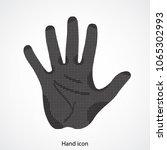 hand icon game.pixel art.five... | Shutterstock .eps vector #1065302993