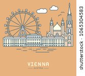 line icon style vienna city... | Shutterstock .eps vector #1065304583