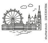 line icon style vienna... | Shutterstock .eps vector #1065304586