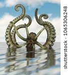 giant octopus 3d rendering   Shutterstock . vector #1065306248