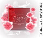 wedding card or invitation with ...   Shutterstock .eps vector #1065308876