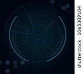 sci fi futuristic user... | Shutterstock .eps vector #1065309104