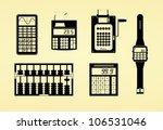 silhouettes of calculators ...