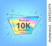 10k followers thank you card.... | Shutterstock .eps vector #1065311474