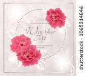 wedding card or invitation with ...   Shutterstock .eps vector #1065314846