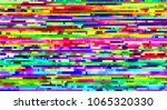vector glitch pattern... | Shutterstock .eps vector #1065320330