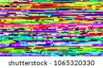 vector glitch pattern... | Shutterstock .eps vector #1065320330