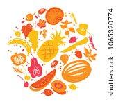 jam labels template. fruit... | Shutterstock .eps vector #1065320774