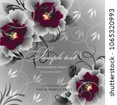wedding card or invitation with ...   Shutterstock .eps vector #1065320993