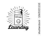 washing machine. laundry room... | Shutterstock . vector #1065321110