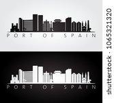 port of spain skyline and... | Shutterstock .eps vector #1065321320