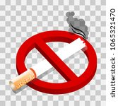 no smoking sign  isolated on... | Shutterstock .eps vector #1065321470