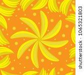 seamless pattern of yellow... | Shutterstock .eps vector #1065321803