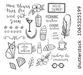 set of hand drawn elements for... | Shutterstock .eps vector #1065325199