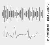 sound waves. audio waves.... | Shutterstock .eps vector #1065325640
