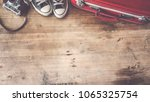 travel concept with equipments | Shutterstock . vector #1065325754