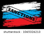 flag of russia with stamp ...   Shutterstock .eps vector #1065326213