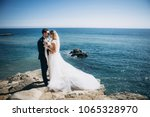 beautiful wedding couple on... | Shutterstock . vector #1065328970