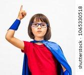 clever fun super hero child... | Shutterstock . vector #1065330518