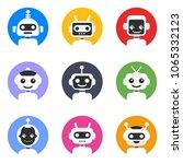 chatbot symbol  logo template.... | Shutterstock .eps vector #1065332123