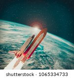 Rocket And Earth. The Elements...