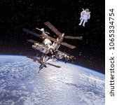 Small photo of Space craft. Space station. Space mission. The elements of this image furnished by NASA.