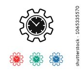 time management icon. clock and ...   Shutterstock .eps vector #1065335570
