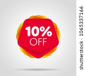 special offer sale red tag... | Shutterstock .eps vector #1065337166