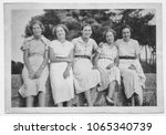 1934. group of young women... | Shutterstock . vector #1065340739
