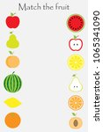 match the fruit  in cartoon... | Shutterstock .eps vector #1065341090