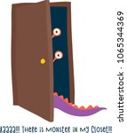 monster in the closet  scary... | Shutterstock .eps vector #1065344369