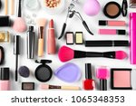 flat lay composition with... | Shutterstock . vector #1065348353
