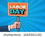 Labor Day Comic Poster Over Po...