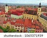 top view of sibiu historical... | Shutterstock . vector #1065371939