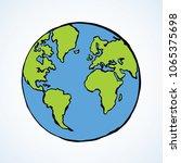 glob orb round hemisphere shape ... | Shutterstock .eps vector #1065375698