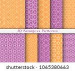 seamless pattern set in arabic... | Shutterstock .eps vector #1065380663