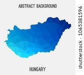 hungary map in geometric...   Shutterstock .eps vector #1065381596